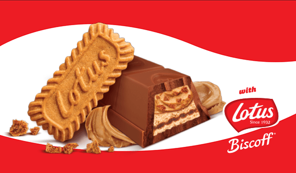 Now discover KitKat with Lotus Biscoff