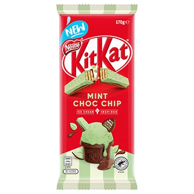 KitKat Mint Choc Chip Chocolate Block 170g