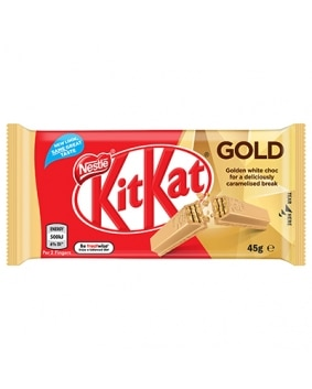 KitKat 4 Finger Gold Choc Bar 45g