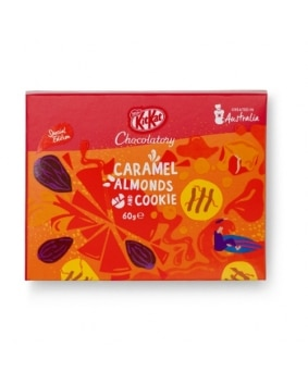 KitKat Chocolatory Special Edition Caramel Almonds & Cookie 60g