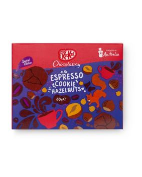 KitKat Chocolatory Special Edition  Espresso, Cookie & Hazelnut 60g